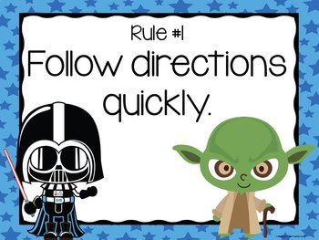 Star Wars Whole Brain Teaching Rules