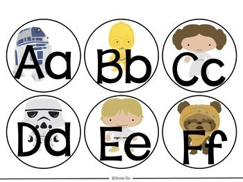 Star Wars Word Wall Fry Word List and EDITABLE