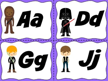 Star Wars Word Wall Letter Headings