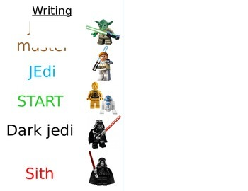 Star Wars Writing Scale