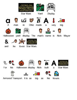 Star Wars - Yard Display picture supported text visual supports current events