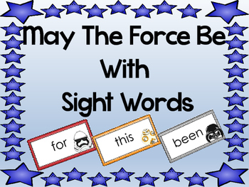 Star Wars and Sight Words