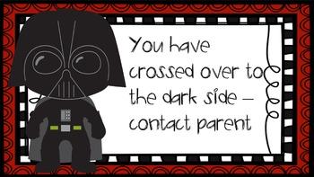 Star Wars behavior chart