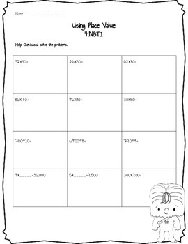 Star Wars inspired math sheets for ccss 4.nbt