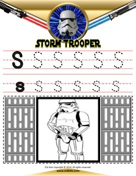 Star Wars letter Tracing / Coloring pages