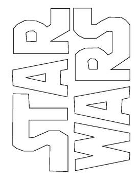 Star Wars logo coloring