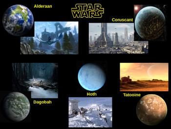 Star Wars planets slide