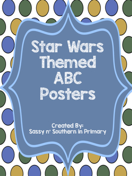 ABC Posters (Blue Polka Dot matches other Star Wars products)