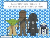 Star Wars themed Table signs 1-8