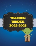 Star Wars themed Teacher Binder 2020-2021