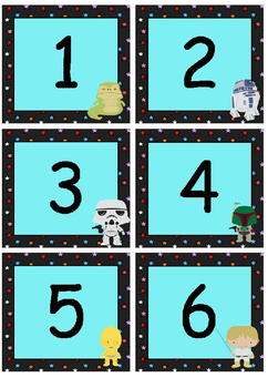 Star Wars-themed classroom decoration set (with editable elements)