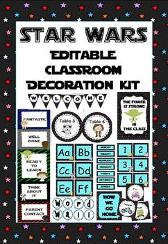 Star Wars-themed classroom decoration set (with editable e