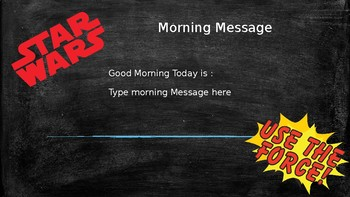 Star Wars themed target and morning message slides