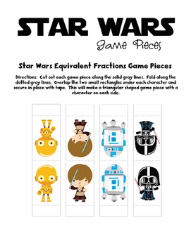 Star Wars Inspired Equivalent Fraction Board Game
