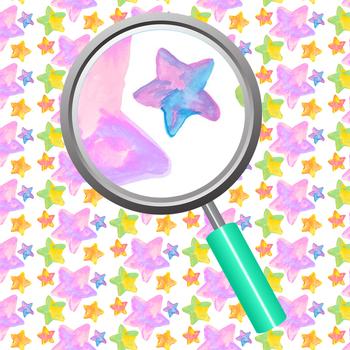 Star Watercolor / Handpainted Digital Papers / Backgrounds Clip Art Set