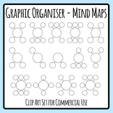 Star, Webbing, Cluster Graphic Organiser Clip Art for Mind Maps
