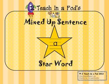 Star Word A Mixed Up Sentence