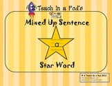 Star Word A Mixed Up Sentence