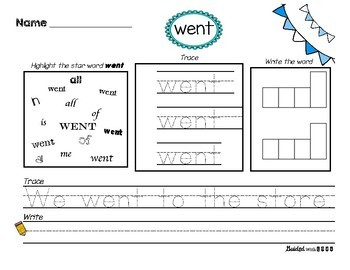 Star Word Reading & Writing