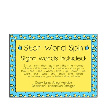 Star Word Spin