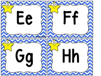 Star Word Wall Letters