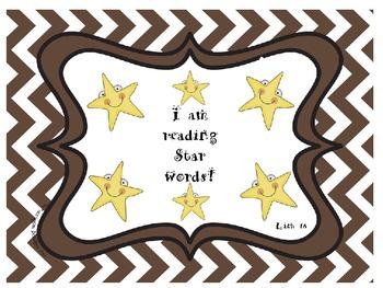 Star Words List 18 Sight Words