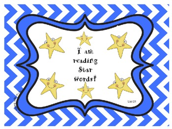 Star Words List 21 Sight Words