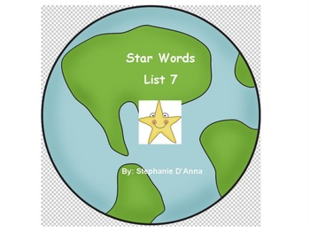 Star Words List 7 Sight Words