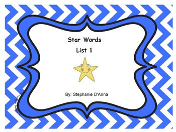 Star Words Lists 1-4 Sight Words Bundled