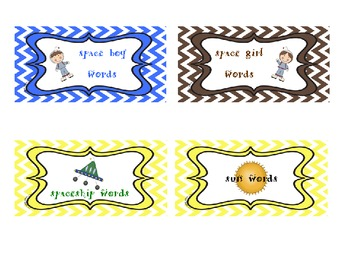 Star Words Posters and Labels