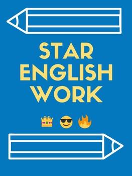 Star Work Bulletin Board: English, Math, Science