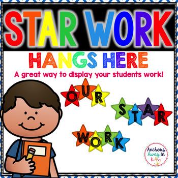 Star Work Hangs Here Banner