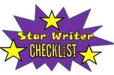 Star Writer Checklist!!!!