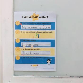 Star Writer - a neat handwriting rubric