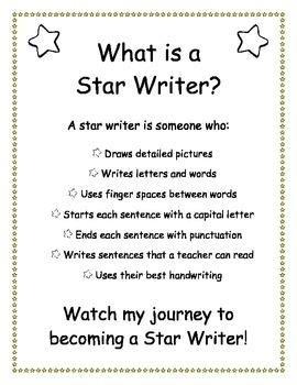 Star Writers - Kindergarten/Beginning Writing Workbook