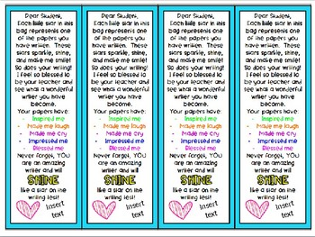 Star Writing Bookmarks