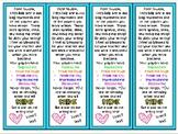 Star Writing Bookmarks