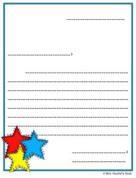 Writing Paper Templates - Star Theme
