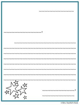 Writing Paper Star