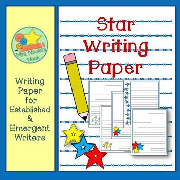 Star Writing Paper for Emergent and Established Writers