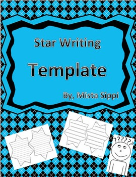 Star Writing Template with Lines