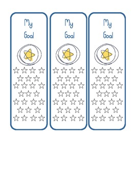 Star and Owl Themed Goal Setting Book Marks