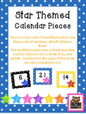 Star and Polka Dot Themed Calendar Set (Including Days of the Week Cards)