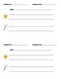 Star and Wish Feedback Sheet