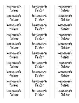 Star binder labels