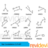 Star constellation clip art