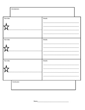 Star idea writing organizer