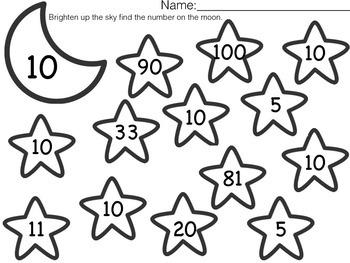Star numbers 0-10  Free