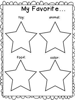 Star of The Week Worksheets