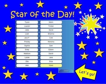 Star of the Day - Randomizer